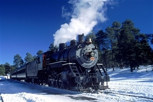 Train Vehicle in Winter Seasons Free HD Wallpapers