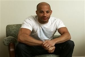 Vin Diesel Seating on Chair