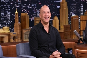Vin Diesel in Black Shirt Wallpaper