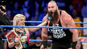 Braun Strowman with Alexa Bliss in WWE