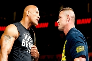 John Cena and Rock Popular Wrestler of WWE HD Wallpapers