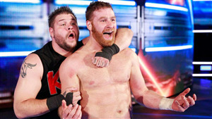 Kevin Owens with Sami Zayn in WWE