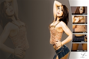 WWE Ladies Superstar Layla in Stylish Look