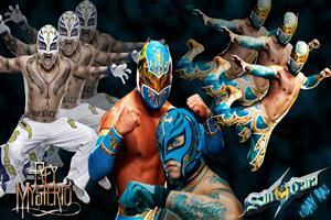 WWE Rey Mysterio Different Looks