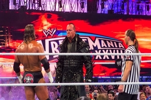 Wrestlemania XXVIII 28 The Undertaker VS Triple H and Shawn Michaels as  Referee