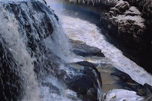 Big Waterfalls in River Image
