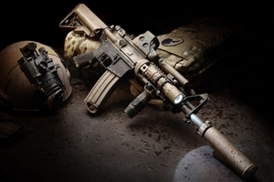 Army Rifle with Silencer Photo