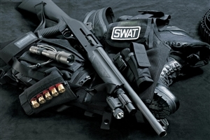 SWAT Weapons Equipment Wallpaper