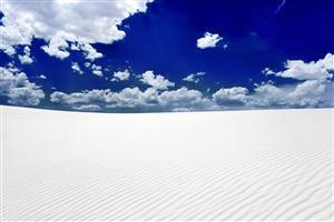 Beautiful White Sand Desert Wallpaper