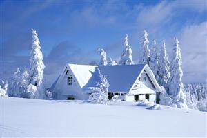 Beautiful Snowy Home in Winter