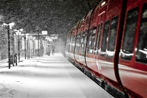 Train on Winter Seasons Photos