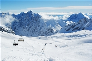 Zugspitze During Winter in Europe Wallpapers