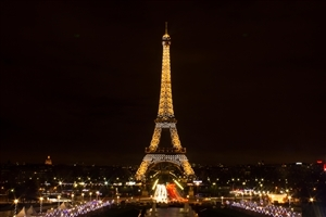 Beautiful Eiffel Tower at Night Wallpaper