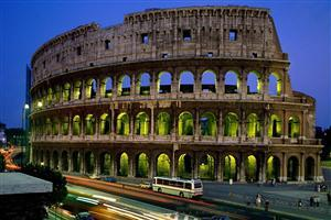 Colosseum Wonders in Rome Wallpaper