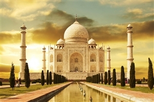 Taj Mahal Wonders of the World in Agra India HD Wallpapers