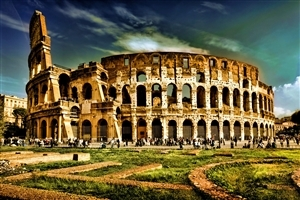 Wonder Colosseum Amphitheatre in Rome Italy
